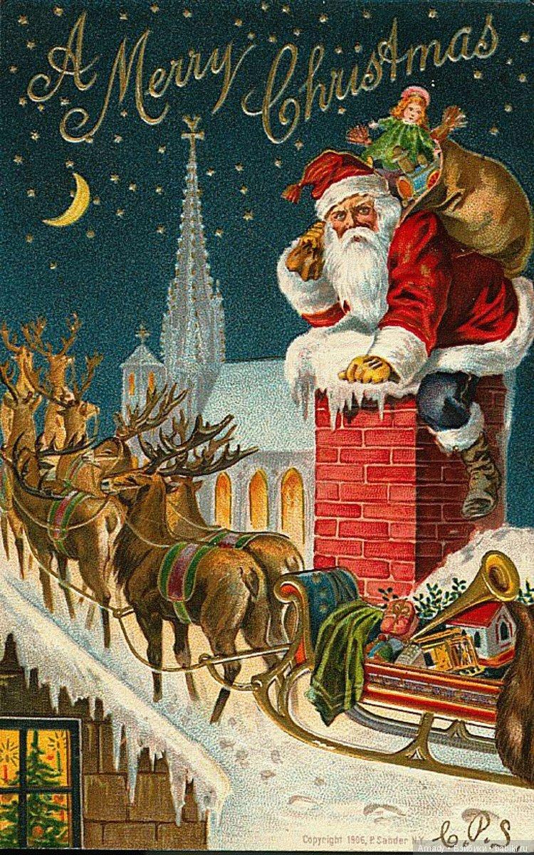 Современные американские новогодние открытки
