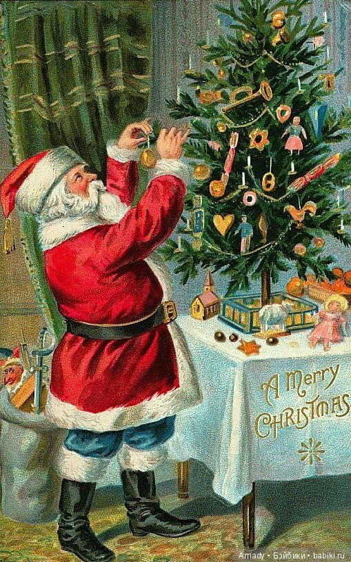 Открытки старинные новогодние и рождественские фильмы