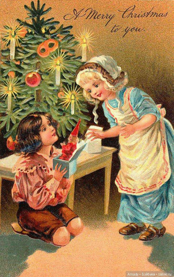 Картинки, ретро фото открыток к новому году