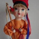 Польская кукла.Текстиль.Папье-маше.Солома.Ручная работа