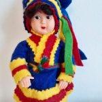 Финская кукла в мужском костюме саамов
