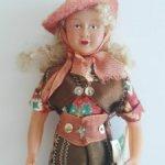 Целлулоидная кукла французской марки SNF