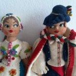 Пара кукол.Мадьяры.Ручная работа