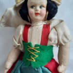 Итальянская кукла по типу Lenci,50-е годы
