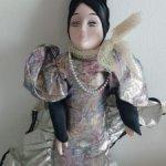 Кукла салонная,будуарная,интерьерная.Фарфор