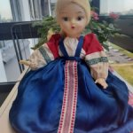 Кукла-грелка на чайник паричковая