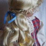 Парик для куклы 14-15 имитация кожи