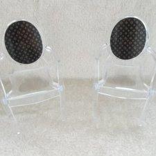 Прозрачные кресла (стулья) для кукол 1:6