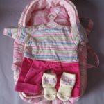 Переноска + комплект одежды для кукол-детей