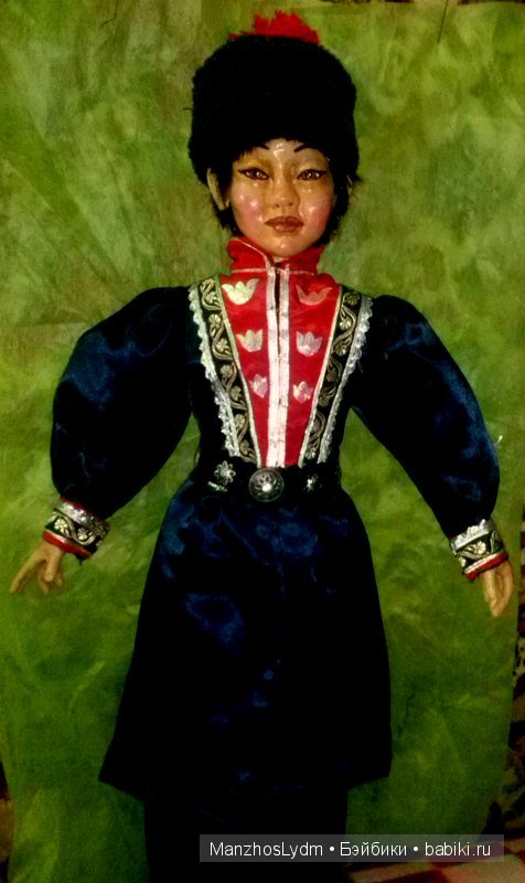 Кукла в мужском калмыцком костюме. 67 см. Автор Манжос Л.И