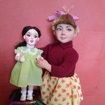 """Авторская кукла """"Девочка из 50-х годов"""""""