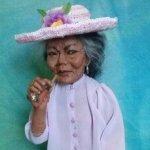 Авторская кукла Людмилы Манжос. Моя бабушка курит трубку