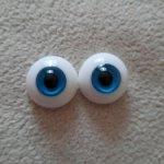 Стеклянные глаза голубые (полусферы) 20 мм