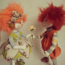 У моего Клепы появилась подружка. И вроде там ❤ Текстильные куклы
