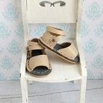 Обувь для куклы Paola Reina, босоножки кожаные с длинным ремешком
