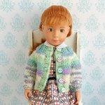 Одежда для кукол Kruselings, Мини Paola Reina, Blythe. Вязаная кофточка