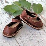 Обувь для кукол Minouche Petitcollin, туфельки коричневые для Минуш