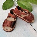Обувь для куклы Paola Reina, босоножки открытые кожаные