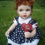 Фарфоровая кукла от Франклина Минта, малышка Lucy Ball