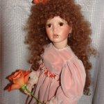 Фарфоровая кукла от Донны Руберт (Donna Rubert).Бесплатная доставка.