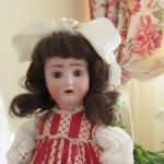 Антикварная куколка кабинетного размера Alt, Beck & Gottschalk (ABG).