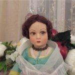 Редчайшая итальянская антикварная модельная кукла LENCI РИТА 1930г.