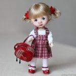 Сарафан для кукол около 16 см ростом