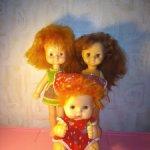 Одним лотом три советские куколки.