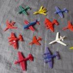 Игрушки СССР  самолетики,пластмасса,13 шт одним лотом,цена за все