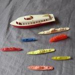 Игрушка СССР Корабли Танкеры Аврора,пластмасса,одним лотом 8 шт