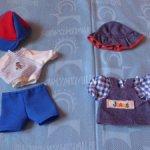 2 костюма для куклы ростом 22,28 см,6 предметов,Германия,продаются вместе,цена за все с доставкой