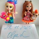 Mattel Enchantimals Симпатичные куколки со зверюшкой