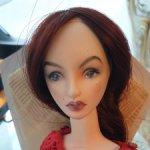 Продам авторскую шарнирную куколку из флюмо