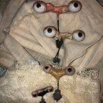 Антикварные глазки на рокерах/ Карие