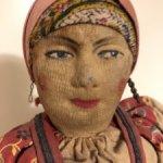 Антикварная советская артельная кукла Смолянка