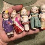 ЛОТ японских бисквитных куколок 40х гг