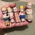 Набор японских бисквитных куколок 40х гг