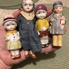 Набор #3 японских бисквитных куколок 40х гг