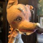 Старинная игрушка Лиса на палочке