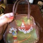 Советская детская кожаная сумочка