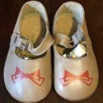 Советские кожаные туфельки для больших мишек или кукол