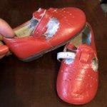 Советские детские кожаные туфельки для мишек/кукол