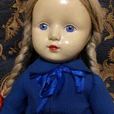 Советская прессопилочная кукла с пищиком