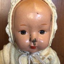 Прессопилочная кукла СССР в ползунках