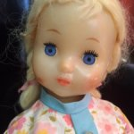 Кукла СССР ранняя, колкий пластик