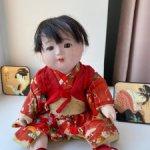 Антикварная японская кукла гофун