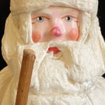 Дед Мороз ватный, матерчатая шубка