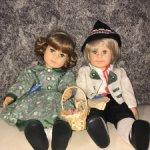 Куклы парочки, Ганс и Грета шарнирные! Цена за лот!