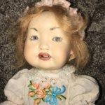 Полностью фарфоровая Реплика антикварной куклы .