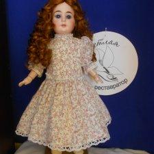Реставрация антикварной куклы 1894 АМ4DEP. Хромоножка. Выравниваю ножки